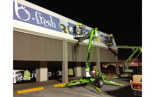 BFresh shop signage - Old sign removal