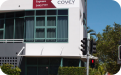 Covey external corporate building signage