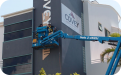 Covey 3D Lettering external corporate building signage installation