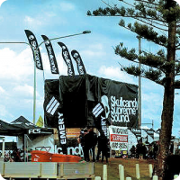 Skullcandy Groms Surfing Event Signage