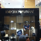 Emporio Armani point of sale display box