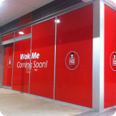 Wok Me retail front signage large format wall print